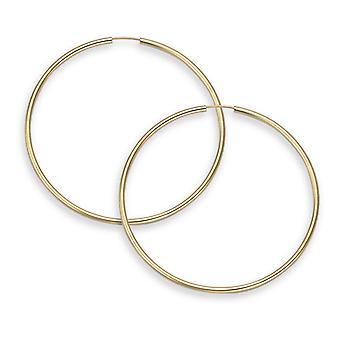 "14K Gold Creolen - 1 1/2"" Durchmesser (2mm Dicke)"