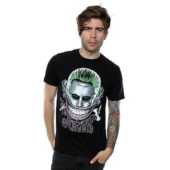 Suicide Squad mannen Joker gekleurde glimlach T-Shirt