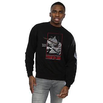 Friday 13th Men's Distressed Axe Poster Sweatshirt