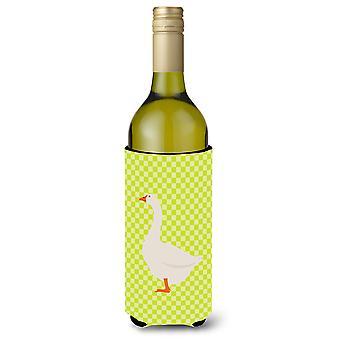 Embden Goose Green Wine Bottle Beverge Insulator Hugger