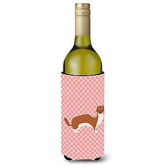 Skotsk hjorthund schackrutiga rosa Lunch väska