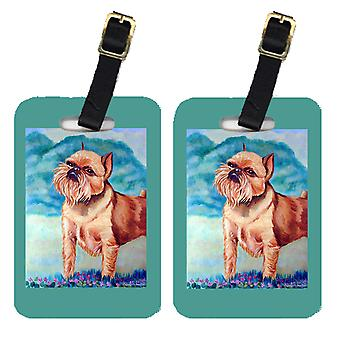 Carolines Treasures  7016BT Pair of 2 Brussels Griffon Luggage Tags