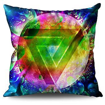 Psychedelic Cosmos Linen Cushion 30cm x 30cm | Wellcoda