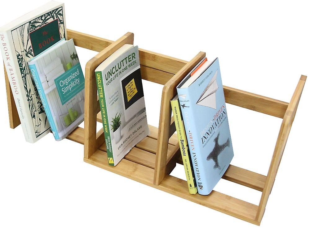 Woodquail Bamboo Expandable Bookshelf