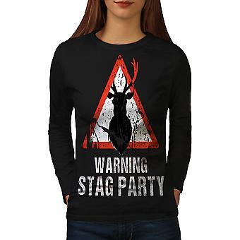 Warning Party Funny Women BlackLong Sleeve T-shirt | Wellcoda