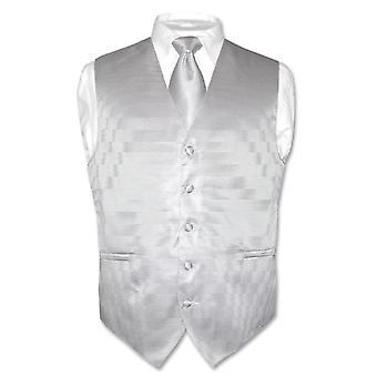 Męskie kamizelki sukienka & krawat tkane szyi krawat poziome dublujący