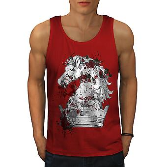 Horse King Blood Horror Men RedTank Top | Wellcoda