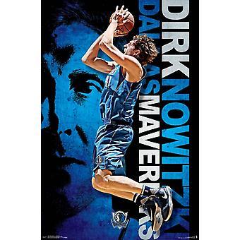 Dallas Mavericks - Dirk Nowitzki 16 Poster Print