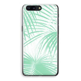 OnePlus 5 Transparant Case (Soft) - Palm leaves