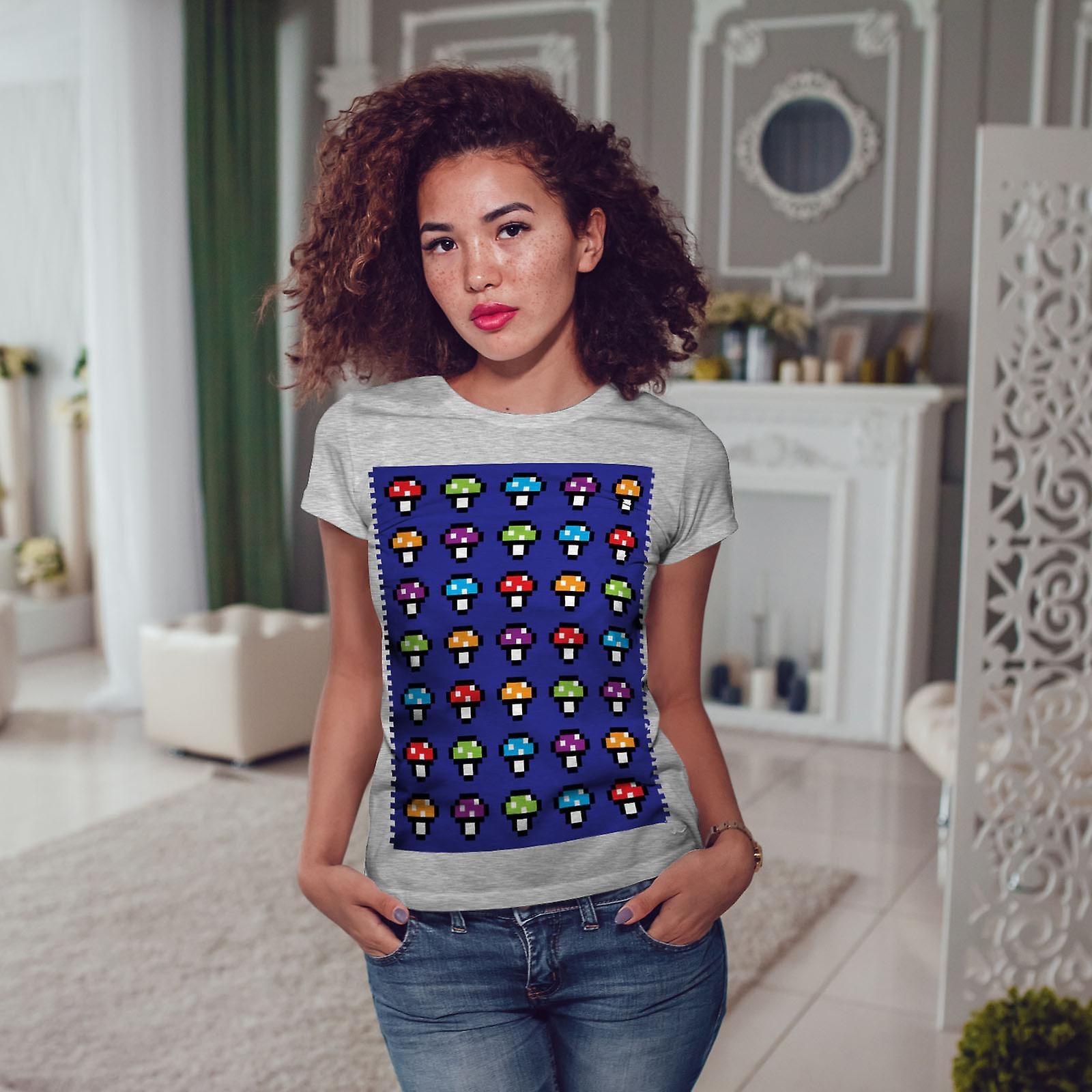 Shroom Funny Geek génial GreyT-chemise femme   Wellcoda