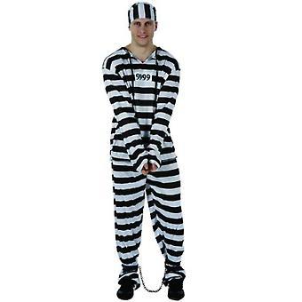Männer Kostüme Gefangenen weiß-schwarz gestreift