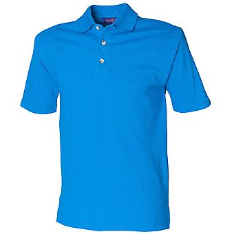Henbury Mens Classic Polo Shirt with stand up collar