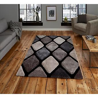 Noble House 9247 Black Grey Rectangle Rugs Plaine /Presque Plaine Rugs