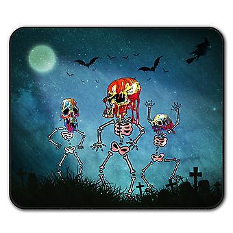 Bloed Skeleton Rock antislip-muismat Pad van 24 x 20 cm | Wellcoda
