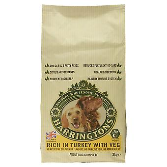 Harringtons Complete Dry Dog Food Rich in Turkey with Vegetables, 1.75kg