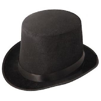 Черный велюровый Top Hat