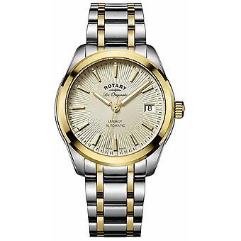 Rotary Womens Legacy Automatic | Two-Tone Stainless Steel/PVD Strap LB90166/03 Watch