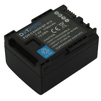Dot.Foto BP-819 PREMIUM 7.4v / 1780mAh Ersatz wiederaufladbare Camcorder Batterie für Canon [Siehe Beschreibung für Kompatibilität]