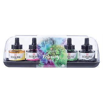 Talens Ecoline Dye-Based Watercolour Primary Colours Set 5 x 30ml
