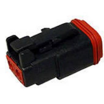 Conector de bala DT06-2S-P012 conectividad TE toma, serie recta (conectores): Número Total de despegue de pines: 2 1 PC