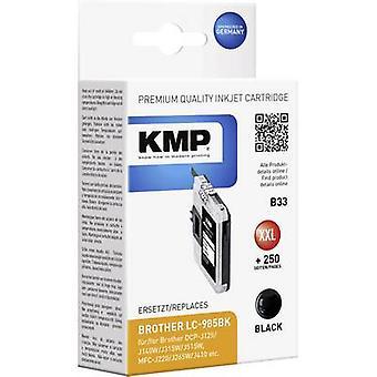 KMP encre remplacé B33 de noir Compatible Brother LC-985 1523,0001