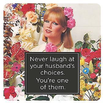 No reír nunca en opciones de tu marido, eres una... Bebidas divertidas Mat / montaña rusa