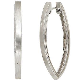 Creolen Ohrhänger 925 Sterling Silber rhodiniert mattiert Ohrringe silber
