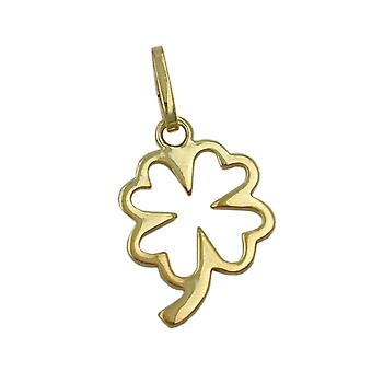 Gold leaf pendants clover 375 followers, clover, 9 KT GOLD