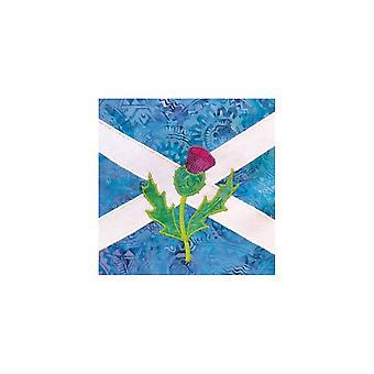 Union Jack käyttää Saltire & Thistle - Skotlanti - Syntymäpäiväkortti