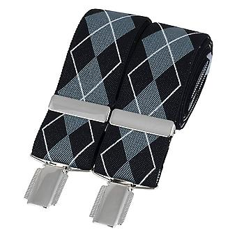 David Van Hagen Diamond Braces - Black/Grey