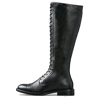 Womens Vagabond Amina Flat Winter Knee High Smart Leather Black Boots