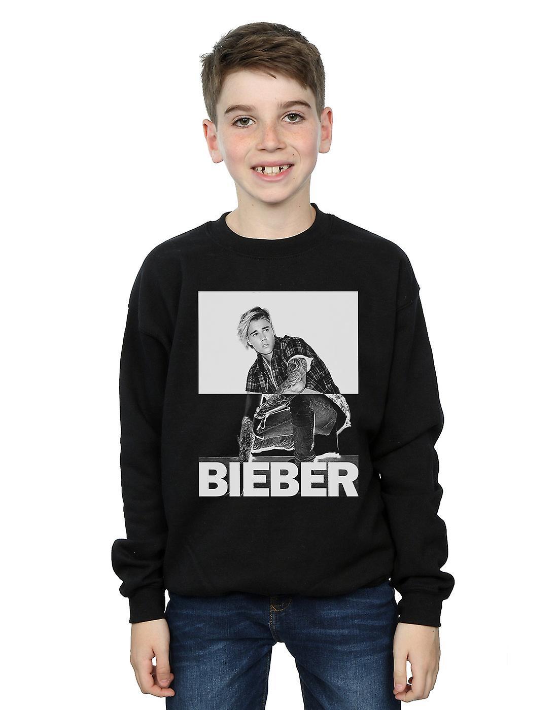 Justin Bieber Boys Split Contrast Sweatshirt