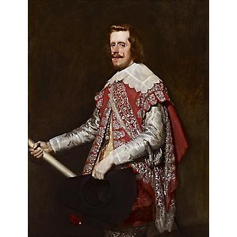 King philip iv of spain,Diego Velazquez,50x40cm