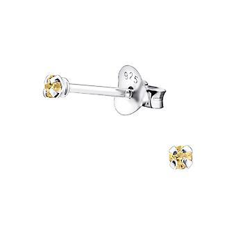 Runde - 925 Sterling Silber klassische Ohrstecker - W9469x