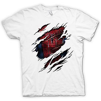 Crianças t-shirt - novo-homem aranha traje - super-herói rasgado Design