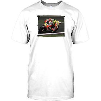 Ducati Racing motorcykel - knä ner roliga Mens T Shirt