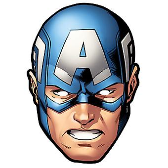 Captain America from Marvel's The Avengers Single Card Party Fancy Dress Mask