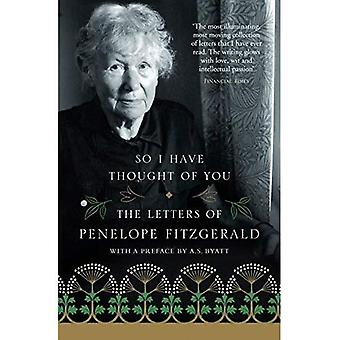 Zodat ik u heb gedacht: de brieven van Penelope Fitzgerald