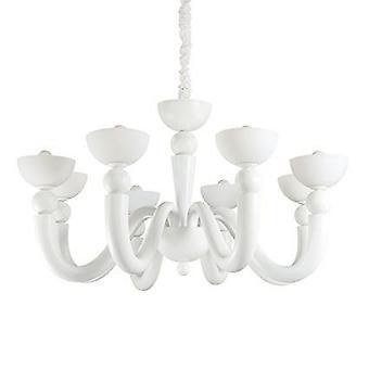 Ideel Lux - Bon Bon Matt White otte lys lysekrone IDL094007