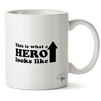 Hippowarehouse This Is What A Hero Looks Like Printed Mug Cup Ceramic 10oz
