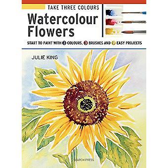 Nehmen Sie drei Farben - Aquarell Blumen - Start in Farbe mit 3 Farben