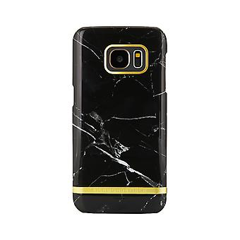 Richmond & Finch shells voor Samsung Galaxy S7 Edge-zwart marmer