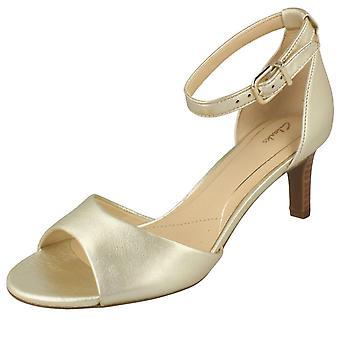 Clarks senhoras elegantes sandálias Laureti graça de salto