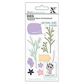 Xcut Small Dies Flower Jar (11pcs) (XCU 504118)
