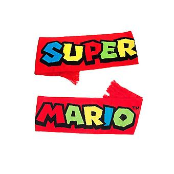 Σούπερ Μάριο αδέρφια. λογότυπο πλεκτό κασκόλ