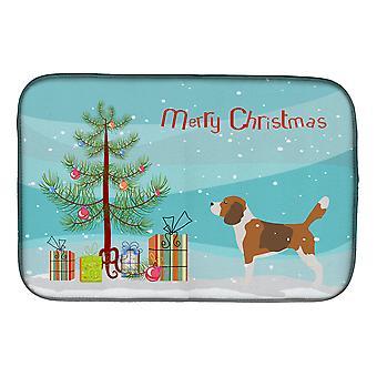 Carolines Treasures BB2928DDM Beagle Merry juletre parabol tørking matte