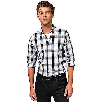 Premier Mens Ginmill Check Cotton Long Sleeve Casual Shirt