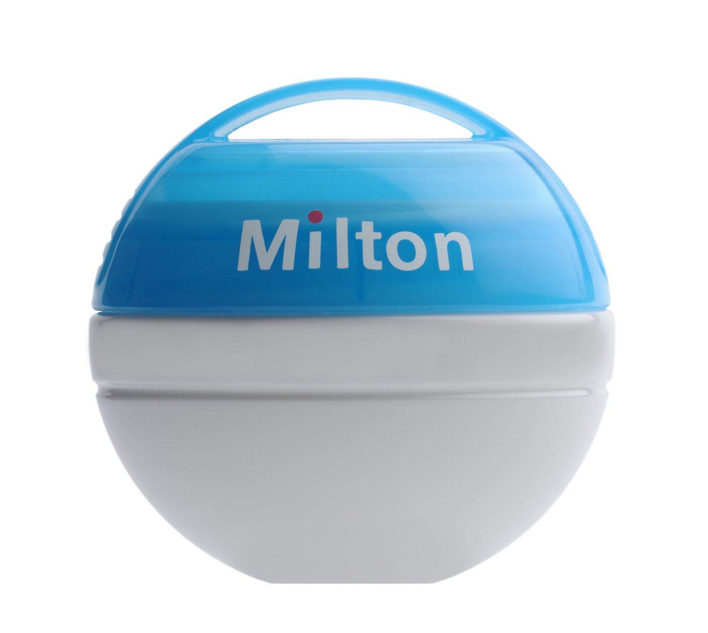 Milton Bundle Mini Portable Soother Steriliser Sky Blue & Mini Sterilising Tablets (contains 50 Tablets)