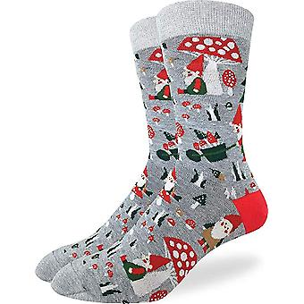 Good Luck Sock - Men's Crew Socks - Woodland Gnomes (7-12) 1423