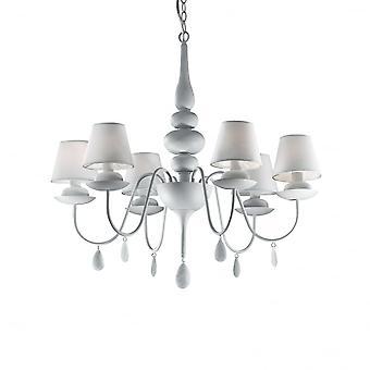 Ideale Lux Blanche 6 lamp hanger licht wit